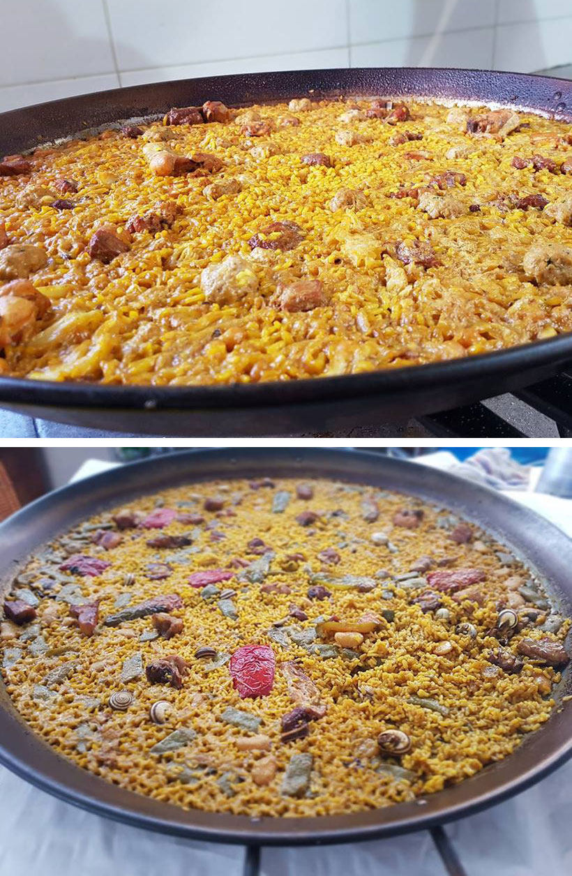 Homemade Paellas